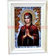 """Картина из янтаря """"Икона"""" в простой раме 10х14, лики в ассортименте"""