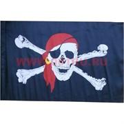 Флаг пиратский 6 размер без древка 90х145 см (10 шт\бл)