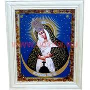 """Картина из янтаря """"Икона"""" в простой раме 23х32, лики в ассортименте"""