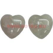 Сердце из розового кварца 4,5 см, цена за 2 штуки