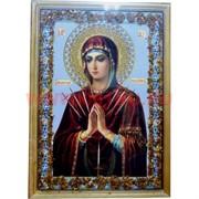 """Картина из янтаря """"Икона"""" в простой раме 35х45, лики в ассортименте"""