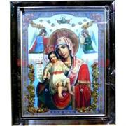 """Картина из янтаря """"Икона"""" в багетной раме 11х15"""