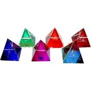 "Кристалл ""Пирамида Знаки Зодиака"" цветная 4см, 12шт/уп"