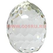 """Кристалл """"Яйцо граненное"""" белое 8 см"""