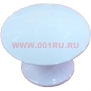 "Ручка кнопка мебельная ""белый"" (87), цена за 100 шт\уп"