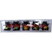 Коты Манеки неко керамические 5-в-1 черного цвета