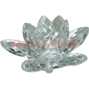 "Кристалл ""Лотос"" прозрачный белый 7 см (XH3-1)"