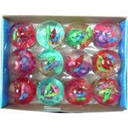 Мячик светящийся с рыбками 65 мм, цена за 12 штук
