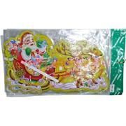 """Картинка Новогодняя (DM-24) """"Дед Мороз на санях"""" и другие цена за 10 штук"""