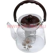 Чайник заварочный стеклянный 1,1 л (27 шт/кор)