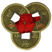 Три монеты для кошелька бронзовые 4см
