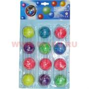 Мячики прыгающие 40 мм, цена за 12 штук (36 листов в коробке)