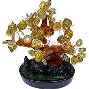 Денежное дерево золотое с большими монетами