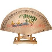 Веер деревянный бамбуковый 12 шт/уп