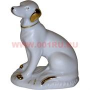 Белый фарфор Собака охотничья 10 см (84 шт/кор) символ 2018 года