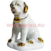 Белый фарфор Собака Сербернар 12 см (60 шт/кор) символ 2018 года