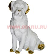 Белый фарфор Собака Ньюфаундленд 14см (48 шт/кор) символ 2018 года