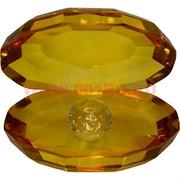 Кристалл «Жемчужина» янтарный цвет 8 см