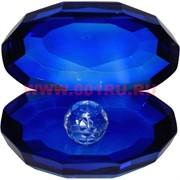 Кристалл «Жемчужина» синий цвет 8 см