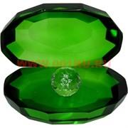 Кристалл «Жемчужина» зеленый цвет 8 см
