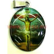 """Подвеска Иконка христианская (M-116) """"Иисус на кресте"""" цена за упаковку из 12шт"""