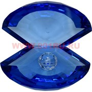 Кристалл «Жемчужина» синяя 10х11,5 см