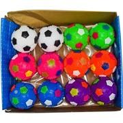"""Мячики светящиеся 75 мм цена за 12 шт """"футбольные"""""""