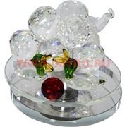 Кристалл «Виноград с утками» 9х10,5 см (101-8)