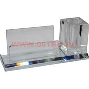 Визитница, карандашница (цвет прозрачный) 7х5х16 см