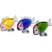 Рыбки стеклянные разноцветные 6,5х4х8 см