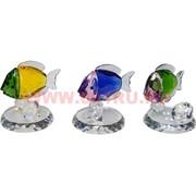 Рыбки стеклянные с бриллиантом