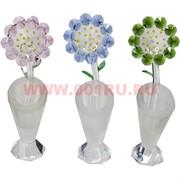 Цветок стеклянный 4 цвета 18,5 см высота