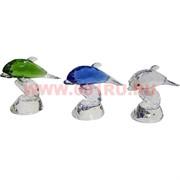 Кристалл «Дельфины» 9х10 см (5 цветов)