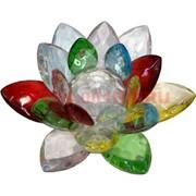 Кристалл «Лотос» разноцветный 8 см