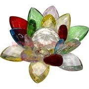 Кристалл «Лотос» разноцветный 10,5 см