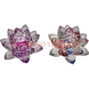 Кристалл «Лотос» цветной 8 см (цвета в ассортименте)