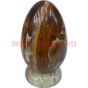 Яйцо большое из оникса на подставке 14,5 см