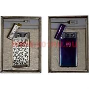 Зажигалка USB разрядная Jin Lun «двойной разряд» цвета разные