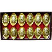 Слитки Фэн Шуй золотые 12 шт/уп цена за упаковку