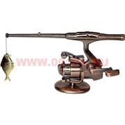 Зажигалка настольная газовая «спиннинг с рыбой»