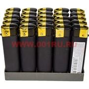 Зажигалка газовая черная под резину 50 шт/бл
