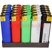 Зажигалка газовая цветная под резину 50 шт/бл
