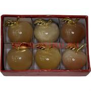 Яблоко из медового оникса 1,5 дюйма 4,5 см (6 шт/уп)