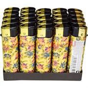 Зажигалка газовая «цветочки» 25 шт/бл