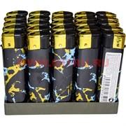 Зажигалка газовая «черная с пятнами» 25 шт/бл