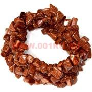 Браслет из каменной крошки «коричневый авантюрин»