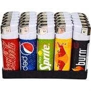 Зажигалка газовая City-L «напитки» 25 шт/бл