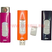 Зажигалка USB Rock цветная (15 шт/бл) цена за 1 шт