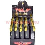 Зажигалки газовые Crusaz черные с фонариком 50 шт/бл
