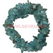 Браслет из каменной крошки «голубой агат»